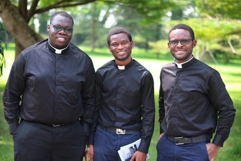 Eyrah Foli, SJ, Franklyn Ibeli Eboh, SJ (lectors) and Eziokwubundu Amadi, SJ (Acolyte)