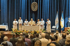 Fr Arturo Sosa SJ celebrates mass in Guatemala