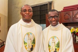 Fr. Ikechukwu Peter Chidolue, SJ and Fr. Chikere Ugwanyi, SJ