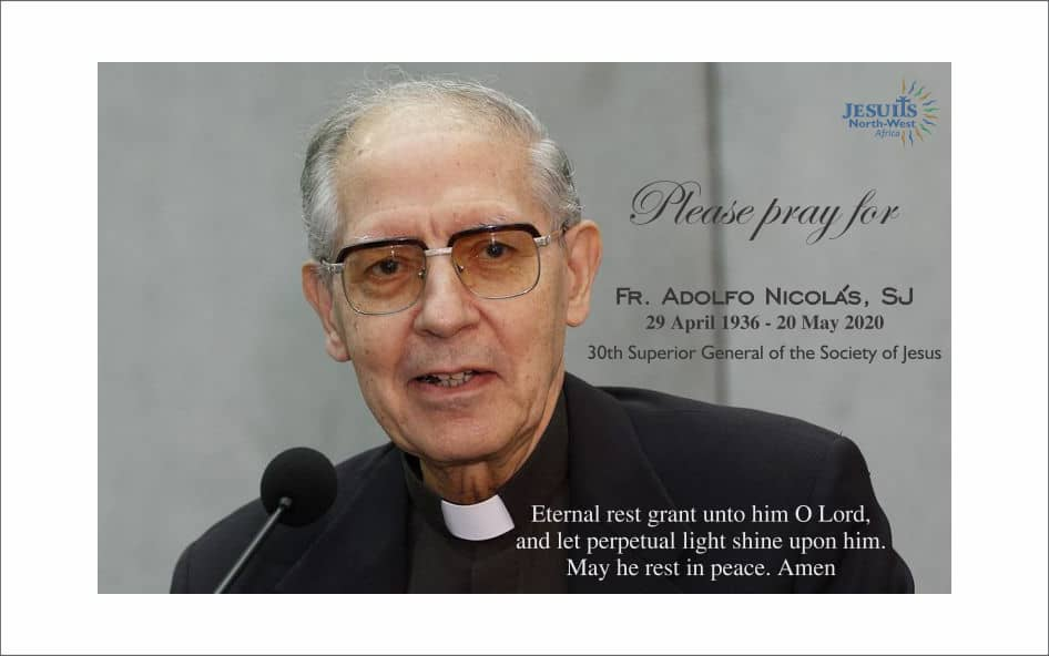 Jesuits mourn the passing of Fr. Adolfo Nicolas, SJ